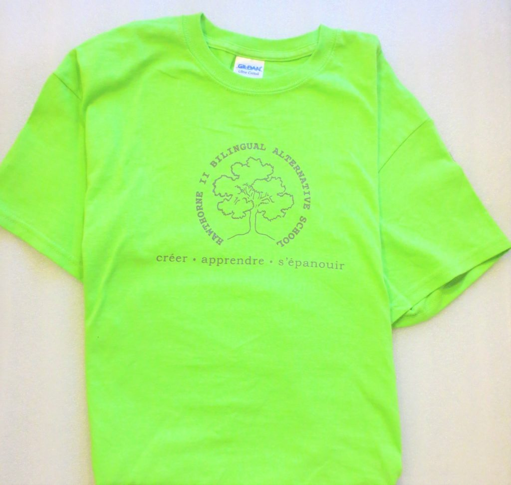 Hawthorne Tshirt in lime green